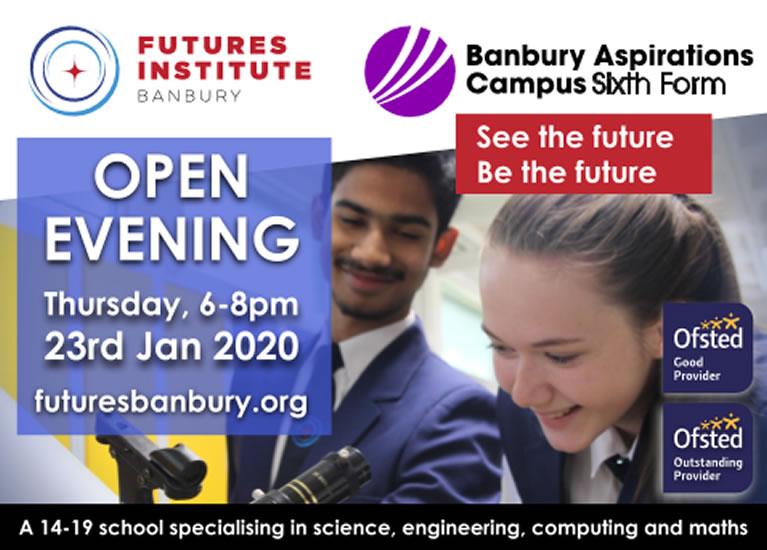 Open Evening poster 23 Jan 2020