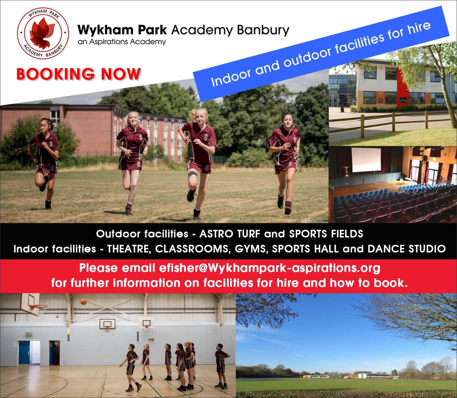 Facilities for hire ad Autumn term 2021 poster